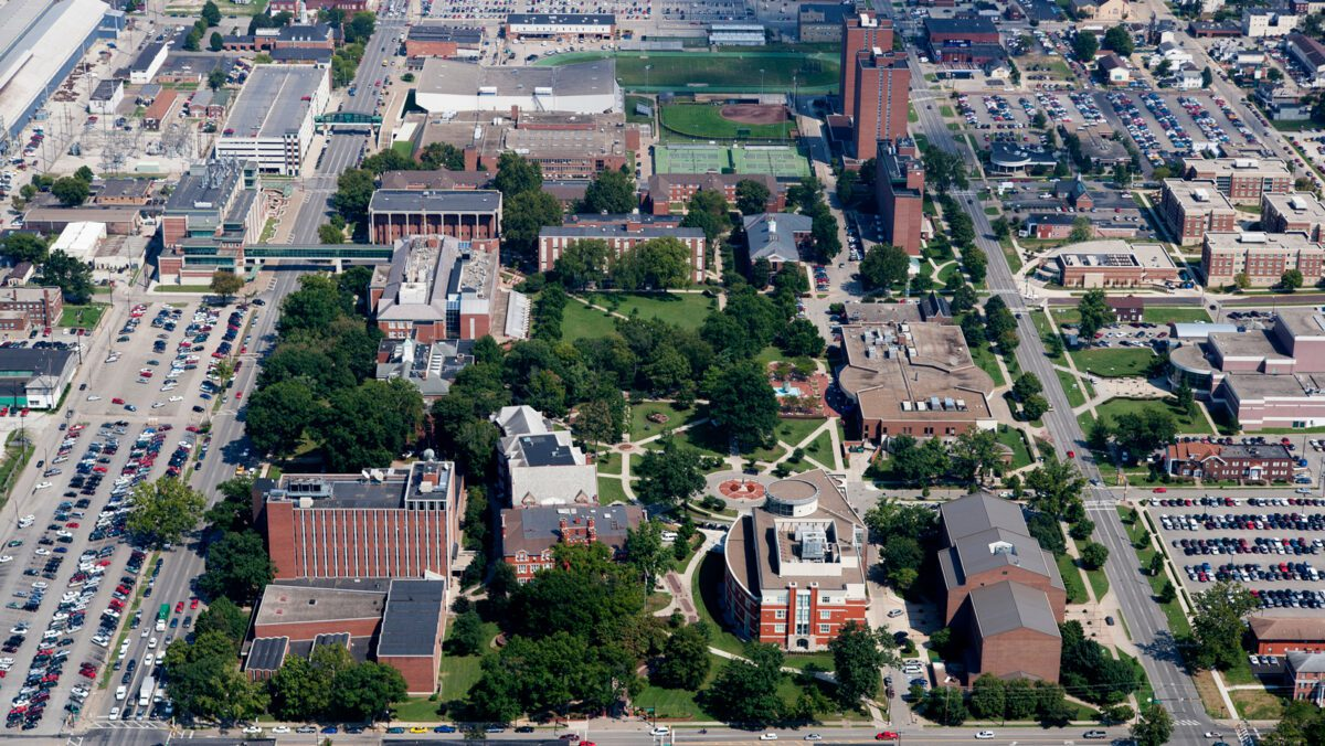 Photo: Aerial view of Marshall University